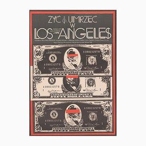 Poster vintage del film Vivere e morire a Los Angeles di Jakub Erol, Polonia, 1986