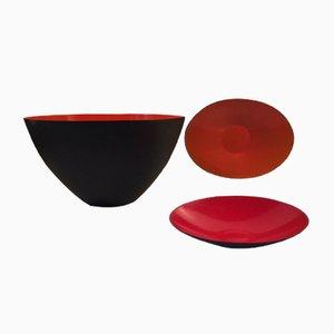 Modernist Krenit Bowl Set by Herbert Krenchel for Torben Ørskov, 1950s