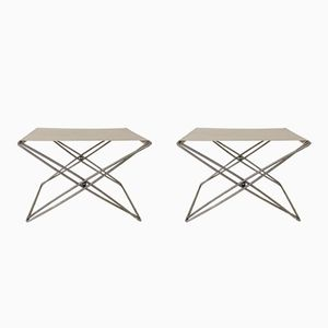 Folding Stools by Jorgen Gammelgaard for Dansk Forum, 1970s, Set of 2