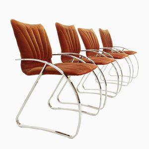 Mid-Century Italian Chairs, 1970s, Set of 4