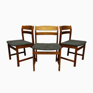 Danish Teak Chairs, 1960s, Set of 3