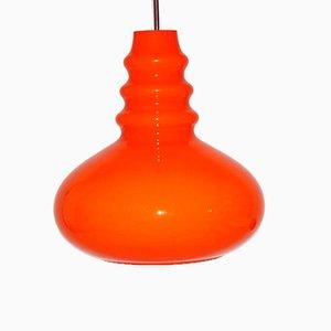 Plafonnier Vintage en Verre Orange de Peill & Putzler, 1960s