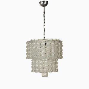 Vintage Italian Glass Ceiling Lamp, 1960s
