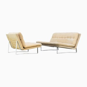 C684 2-Seater and 3-Seater Sofa Set by Kho Liang for Artifort, 1960s