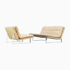 C684 2-Sitzer und 3-Seater Sofa Set von Kho Liang für Artifürt, 1960er