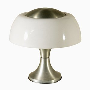 Chromed Aluminum and Plexiglas Table Lamp by Gaetano Sciolari for Valenti Luce, 1970s