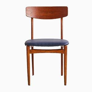 Chaise en Similicuir Bleu et Teck, 1960s