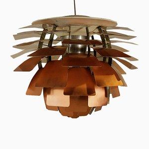 Lampada da soffitto Artichoke in rame di Poul Henningsen per Louis Poulsen, anni '60