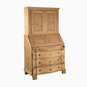 Baroque Swedish Oak Secretaire