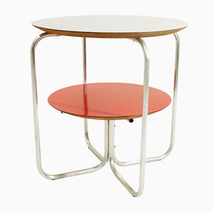 Italian Round Colored Laminate Tops Side Table, 1960s