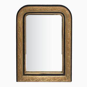 Specchio Napoleone III antico nero e dorato
