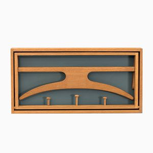 Coat Rack in Oak by Adam Hoff & Poul Østergaard for Virum Møbelsnedkeri, 1960s