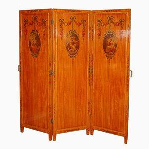 Antiker Raumteiler mit Spiegel und Mehrfarbigen Verzierungen