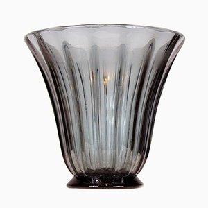 Vase aus Rauchglas von Daum & Nancy, 1930er