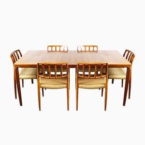 Danish Model 83 Dining Room Set by Niels Otto Moller for J.L. Møllers, 1960s