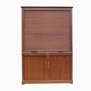 Art Deco French Oak Notary Cabinet from Maurice Lacour
