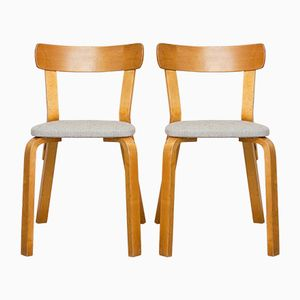 Chair 69 by Alvar Aalto for Hedemora, 1940s, Set of 2