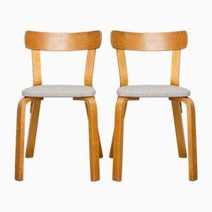 Stuhl 69 von Alvar Aalto für Hedemora, 1940er, 2er Set