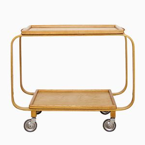 Vintage Swedish Ash Serving Trolley, 1940s