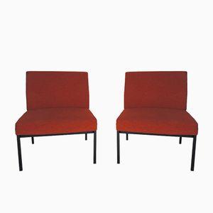 Vintage Orangefarbene Stühle, 1970er, 2er Set