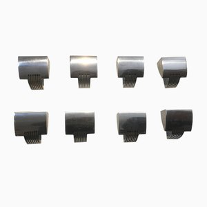 Lampade da parete nr. 1273 vintage di Oscar Devesa per Metalarte, set di 8