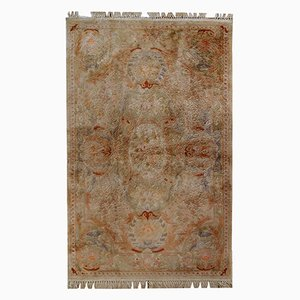Handgemachter Chinesischer Vintage Seiden Teppich, 1970er