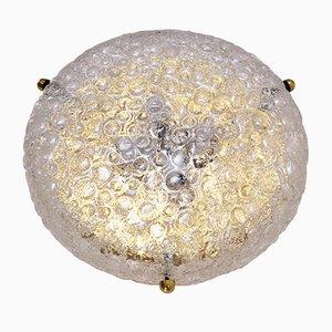 Messing Lampe mit Glasschirm von Egon Hillebrand für Hillebrand, 1970er