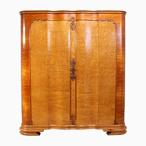 Italian Art Deco Linen Press in Karelian Birch, 1920s