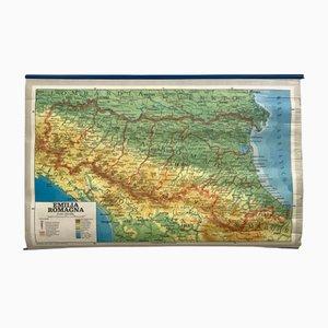 Mapa vintage geográfico de Italia