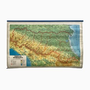 Vintage Geographical Map of Italy