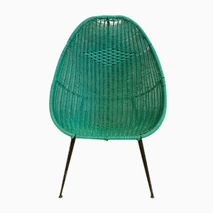 Vintage Water Green Woven Scoubidou Chair