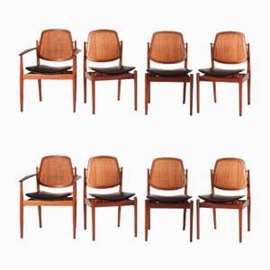 Mid-Century Danish Dining Chairs by Arne Vodder for Sibast, 1960s, Set of 8