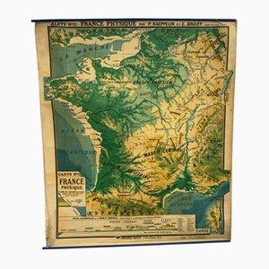 Carte Géographique Murale Vintage de P. Kaeppelin & E. Bruley, France