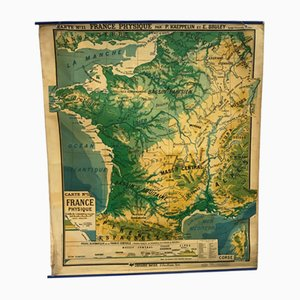 Französische Vintage Landkarte von P. Kaeppelin & E. Bruley