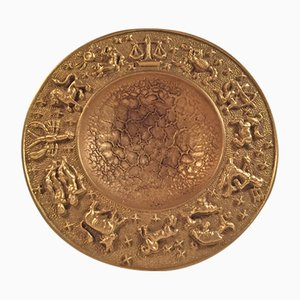 Dänische Vintage Zodiac Bronze Schale mit Mond Texturierung von Nordisk Malm, 1940er