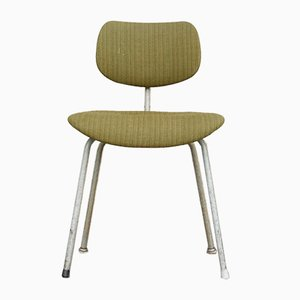 Mid-Century SE 68 Chair with Green Hopsack Fabric by Egon Eiermann for Wilde + Spieth