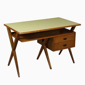 Schreibtisch aus Walnuss mit Formica Platte, 1950er