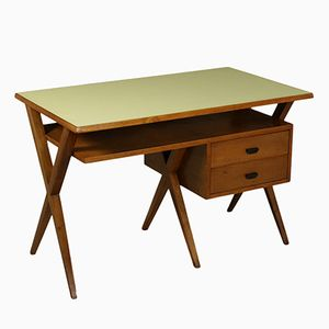 Writing Desk in Solid Walnut with Formica Top, 1950s