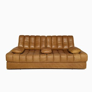 DS 85 Cognac Leather Sofa Bed from de Sede, 1971