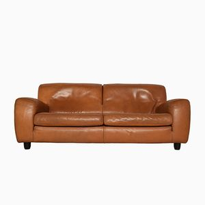 Fatboy Natural Cognac Leather 2.5-Seater Sofa from Molinari, 1980s