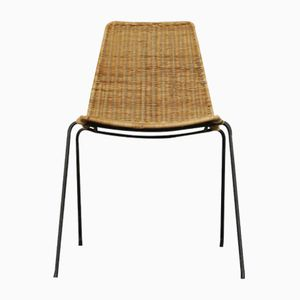 Mid-Century Wicker & Rattan Chair, 1960s