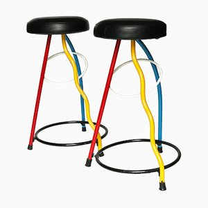 Duplex Stools by Javier Mariscal for BD Barcelona, 1980s, Set of 2