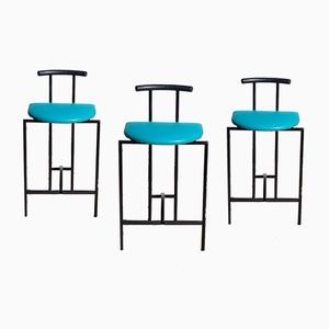 Tokyo Bar Stools by Rodney Kinsman for Bieffeplast, 1985, Set of 3