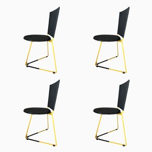 Terna Chairs by Gaspare Cairoli for Seccose, 1985, Set of 4