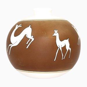 Keramik Vase von Giraud Limoges, 1980er