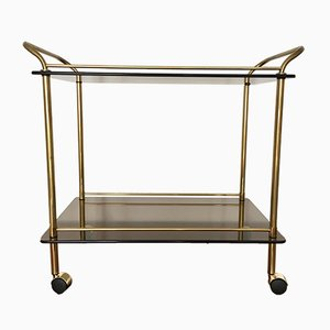 Brass & Smoked Glass Trolley, 1960s