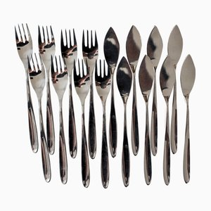 Fish Cutlery by Collini, 1970s, Set of 8