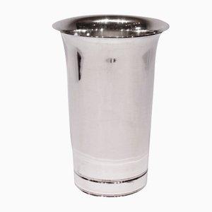 Vaso decorativo vintage argentato di Cohr