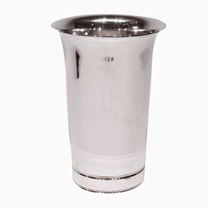 Vintage Simple Decorative Vase in Hallmarked Silver from Cohr