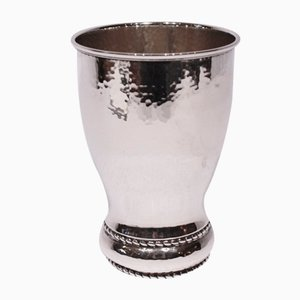 Gehämmerte Silberne Vintage Vase